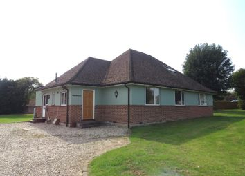 Thumbnail 4 bed detached bungalow to rent in Manor Road, Sherborne St. John, Basingstoke