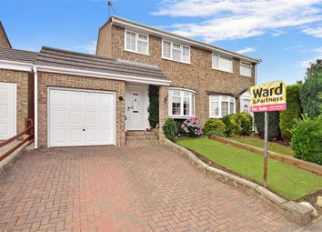 Thumbnail 3 bed semi-detached house for sale in Croft Close, Walderslade, Chatham, Kent