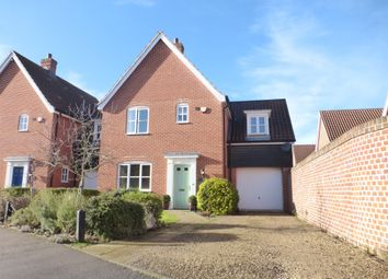 Thumbnail 3 bed link-detached house for sale in Ryefield Road, Mulbarton, Norwich