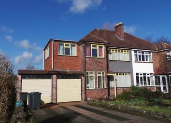 Thumbnail 4 bed semi-detached house for sale in Welford Road, Sutton Coldfield, West Midlands