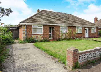 Thumbnail 3 bedroom semi-detached bungalow for sale in Sursham Avenue, Sprowston, Norwich