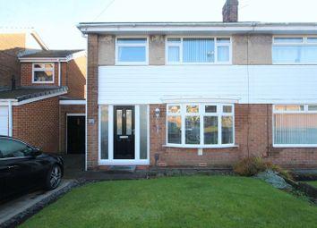 Thumbnail 3 bed semi-detached house for sale in Cheviot Road, Monkton Village, Jarrow