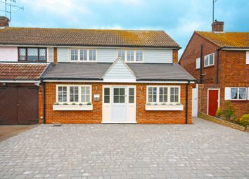 Thumbnail 3 bedroom semi-detached house for sale in Knights Walk, Abridge, Romford