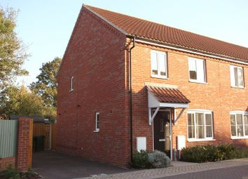 Thumbnail 3 bed end terrace house for sale in Poll Close, Wymondham