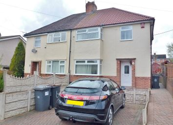Thumbnail 3 bed semi-detached house for sale in Denry Crescent, Bradwell, Newcastle