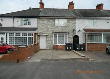 Thumbnail 3 bed terraced house to rent in Findon Road, Ward End, Birmingham