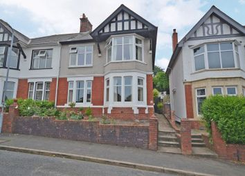 Thumbnail 4 bed semi-detached house for sale in Substantial Period House, Woodland Park Road, Newport