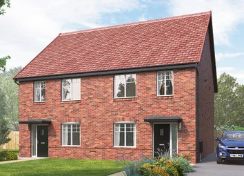 "Thumbnail 3 bed semi-detached house for sale in ""The Kilmington"" at Skinner Street, Creswell, Worksop"