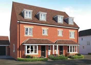 Thumbnail 4 bed town house for sale in The Blunham, Manor House Park, Great Ouse Way, Biddenham, Bedford