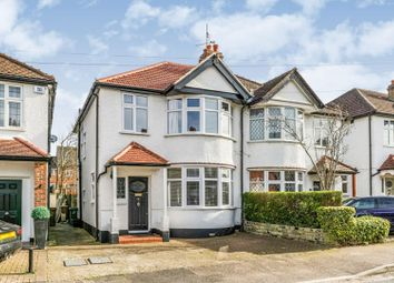 Thumbnail 3 bed semi-detached house for sale in Wellington Avenue, Worcester Park