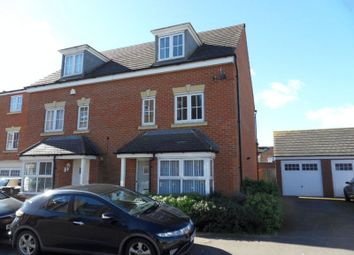 Thumbnail 4 bed semi-detached house to rent in Crowe Road, Bedford