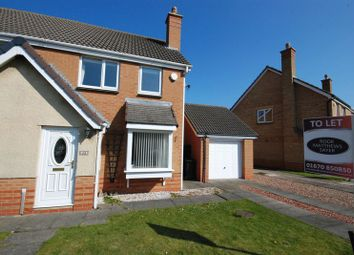 Thumbnail 3 bed semi-detached house to rent in Cotswold Drive, Ashington
