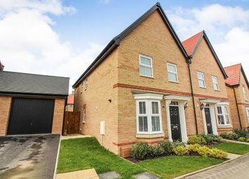 Thumbnail 3 bedroom semi-detached house for sale in Brickle Wood Avenue, Poringland, Norwich