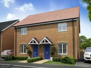 Thumbnail 2 bed semi-detached house for sale in Plot 7A - The Welland, Abbey Walk, Swineshead, Boston