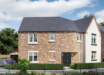 "Thumbnail 4 bed detached house for sale in ""The Oldbury"" at Aslakr Park, Abbey Lane, Aslockton"