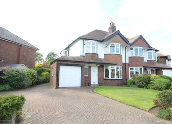 Thumbnail 3 bed semi-detached house for sale in Sandhill Crescent, Alwoodley, Leeds