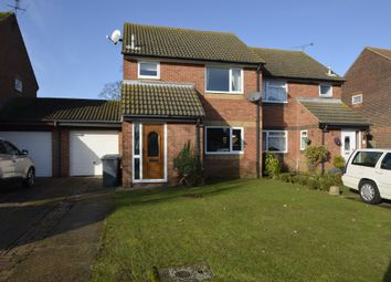 Thumbnail 3 bed semi-detached house for sale in Rogers Close, Felixstowe