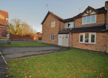 Thumbnail 3 bed town house for sale in Haywood Close, Evington, Leicester