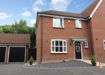 3 bed semi-detached house for sale in Rowan Close, Claydon, Ipswich IP6