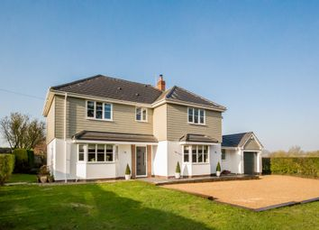 Thumbnail 4 bed detached house for sale in The Street, Stradishall, Newmarket