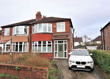 Thumbnail 3 bed semi-detached house for sale in Rosslyn Road, Manchester