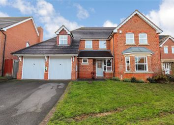 Thumbnail 4 bed detached house for sale in Scrivener Close, Bushby, Leicester, Leicestershire