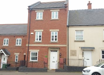 Thumbnail 3 bed town house for sale in Hallam Fields Road, Birstall, Leicester