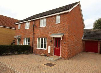 Thumbnail 3 bedroom semi-detached house for sale in Russet Way, Dereham, Norfolk