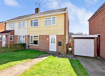 Thumbnail 3 bed semi-detached house for sale in Hillshaw Crescent, Rochester, Kent