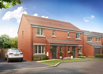 "Thumbnail 3 bed semi-detached house for sale in ""The Hanbury "" at Brickburn Close, Hampton Centre, Peterborough"