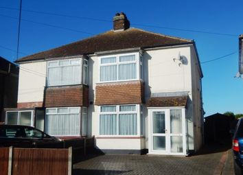 Thumbnail 2 bed semi-detached house for sale in Western Avenue, Minster On Sea, Sheerness, Kent