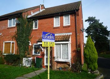 Thumbnail 1 bedroom end terrace house to rent in Oakapple Close, Pease Pottage, Crawley