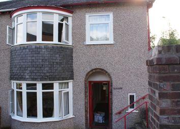 Thumbnail 4 bed semi-detached house to rent in Farrar Road, Bangor, Gwynedd