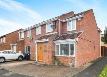 Thumbnail 4 bed semi-detached house for sale in Raleigh Close, Eaton Socon, St. Neots