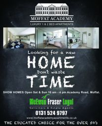 Thumbnail 1 bed property for sale in Academy Road, Moffat, Dumfries And Galloway
