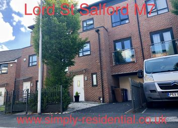 Thumbnail 4 bed town house to rent in Lord Street, Salford