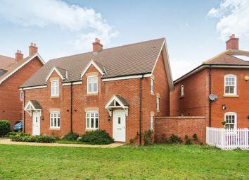 Thumbnail 3 bedroom semi-detached house for sale in Downham Close, Great Denham, Bedford
