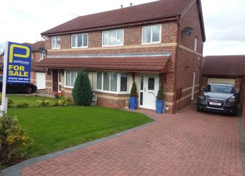 Thumbnail 3 bed semi-detached house for sale in Barnard Close, Bedlington