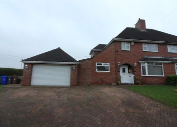 Thumbnail 3 bedroom semi-detached house for sale in Princess Drive, Weston Coyney, Stoke-On-Trent