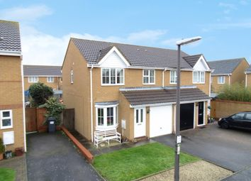Thumbnail 3 bed semi-detached house for sale in Carlisle Close, Sandy