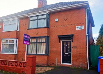 Thumbnail 3 bed semi-detached house for sale in Hillside Close, Manchester
