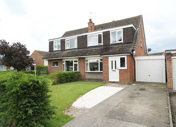 Thumbnail 3 bedroom semi-detached house for sale in Coppice Close, Haxby, York, North Yorkshire