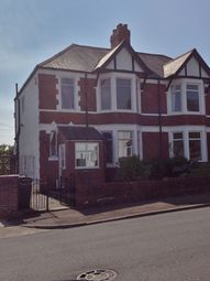 Thumbnail 3 bed semi-detached house to rent in Fairwater Grove West, Fairwater, Cardiff