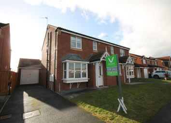 Thumbnail 3 bed semi-detached house for sale in Richardson Court, Willington, Crook