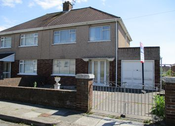 Thumbnail 3 bed semi-detached house for sale in Brian Crescent, Porthcawl