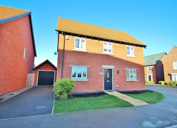 Thumbnail 3 bed detached house for sale in Hallaton Drive, Syston, Leicestershire