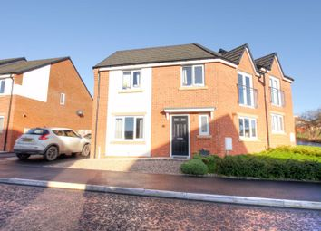 Thumbnail 3 bed semi-detached house for sale in Vallum Place, Throckley, Newcastle Upon Tyne