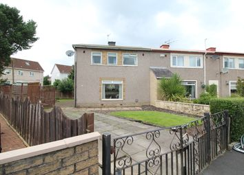 Thumbnail 3 bedroom end terrace house for sale in Rye Crescent, Glasgow