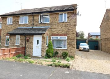 Thumbnail 3 bed semi-detached house for sale in Fraser Close, Deeping St James, Market Deeping, Lincolnshire