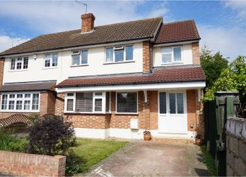 Thumbnail 4 bedroom semi-detached house for sale in Rustic Close, Upminster